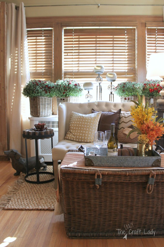 Rustic meets refined décor in the Fall Ideas House.