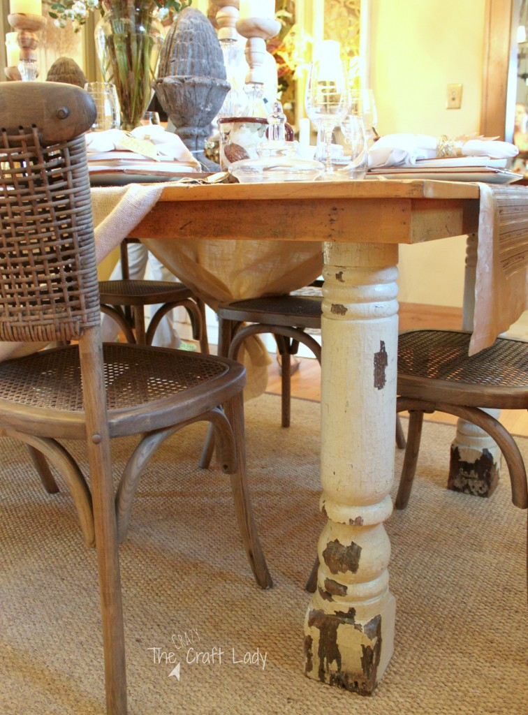 Rustic meets Refined Dining Room – A rustic dining table layered with fall colors and metallic elements.