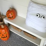 Two AWESOME Pottery Barn knock-off decor crafts for Halloween. How cute is that pillow?