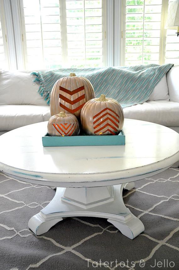 Fantastic DIY Gilded Pumpkins for Fall