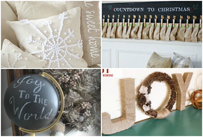 DIY Pottery Barn Christmas - these are some AMAZING PB-inspired knockoff projects for the holidays!