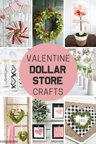 Dollar Store Valentine's Day Crafts