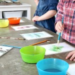 """Easy Spring Watercolor Craft - this watercolor project with """"magic pictures"""" that appear when you paint, is an AWESOME Spring craft for kids of all ages!"""