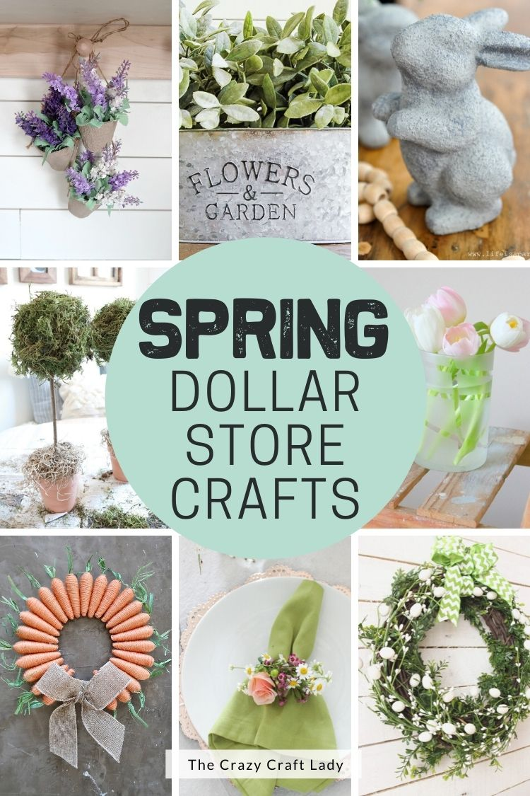20 Beautiful Spring Dollar Store Crafts   The Crazy Craft Lady