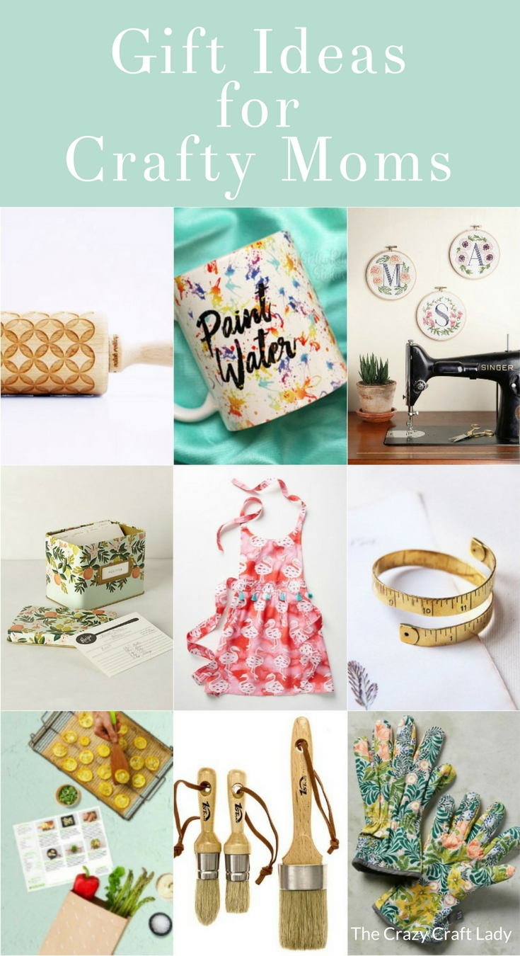 If your mom is a Crafty Mom, look no further. These are my favorite gifts for women. I've selected some perfect gift ideas for the crafty ladies - whether she's a Pinterest addict, crafter, baker, sewer, gardener, or anything else, I've got you covered!
