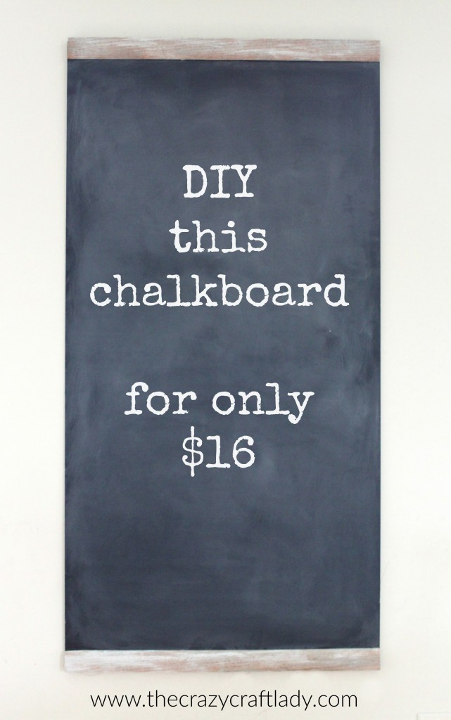 Chalkboards are so popular in home decor right now! DIY this large chalkboard for only $16.