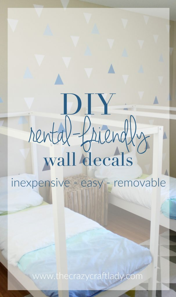 DIY Rental-Friendly Wall Decals + A Feature Wall. These DIY wall decals are the perfect inexpensive decor project for anyone who rents of doesn't want to commit to paint or wallpaper. Repositionable craft vinyl comes in a variety of colors and can be cut to almost any shape you desire.