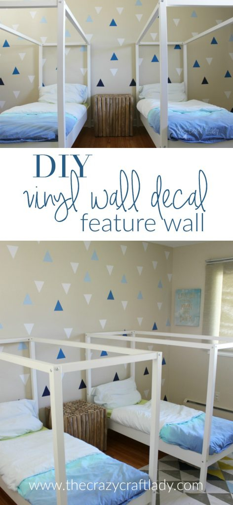 DIY Rental-Friendly Wall Decals + A Feature Wall. These DIY wall decals are the perfect inexpensive wall decor DIY project for anyone who rents of doesn't want to commit to paint or wallpaper. Repositionable craft vinyl comes in a variety of colors and can be cut to almost any shape you desire.