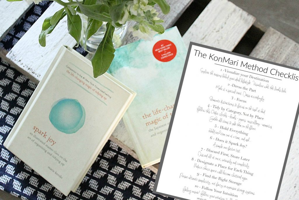 The KonMari Method Checklist - to help you tidy up and spark joy