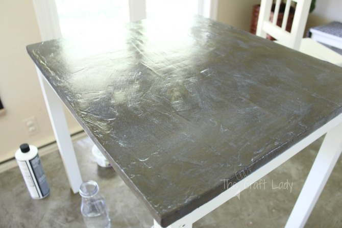 how to seal a DIY concrete table top