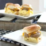 An easy slider hack - perfect for mini breakfast sandwiches