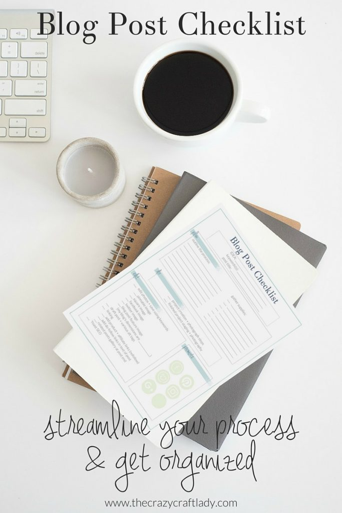 Blog Post Checklist (a FREE printable) - download and print this Blog Post Checklist to use with your editorial calendar. Streamline your posting process and organize your workload!