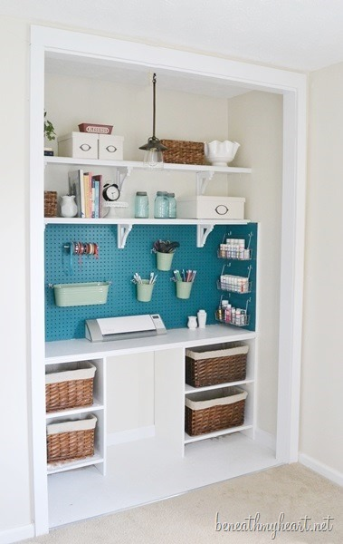 Closet Offices and Organization Inspiration