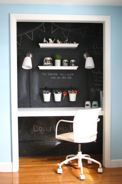 Inspiring Closet Offices + Organizing Inspiration