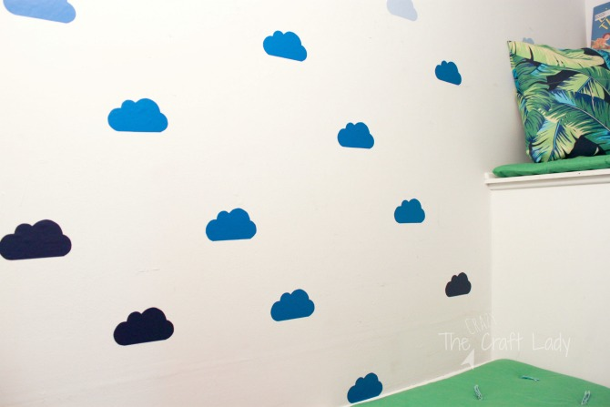DIY Cloud Wall Decals - how to make custom wall decals