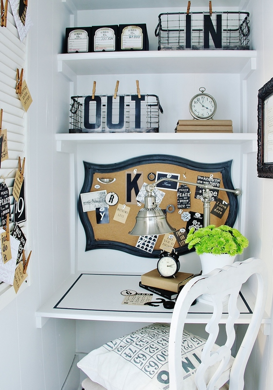 Small office space in a closet