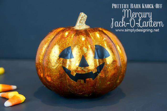 Pottery Barn Halloween Knock-Off Mercury Jack-O-Lantern