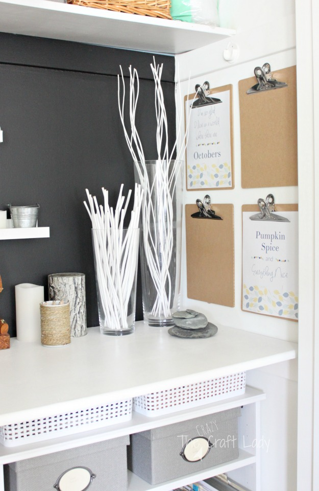 Two Free Fall Printables - hang clipboards on your office wall and rotate seasonal printables