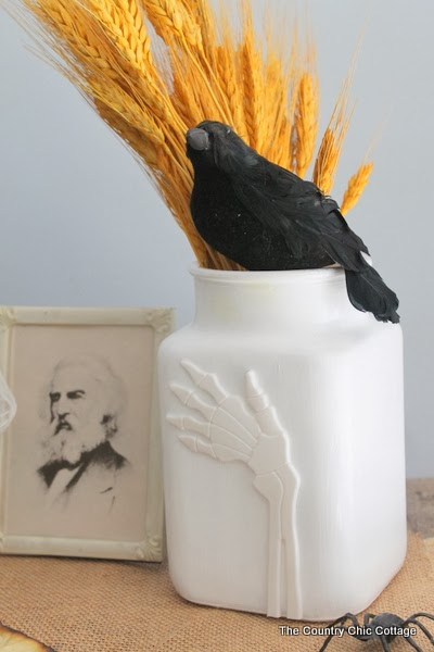 halloween hand vase - a Pottery barn knock Off Craft
