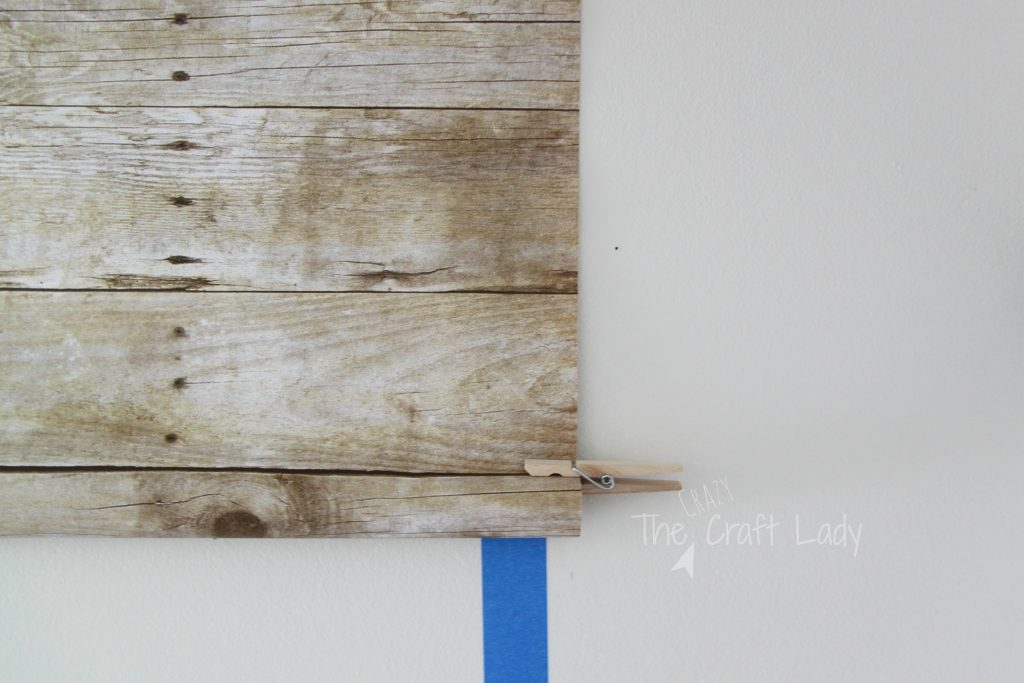 make a faux plank wall that is damage-free and rental-friendly