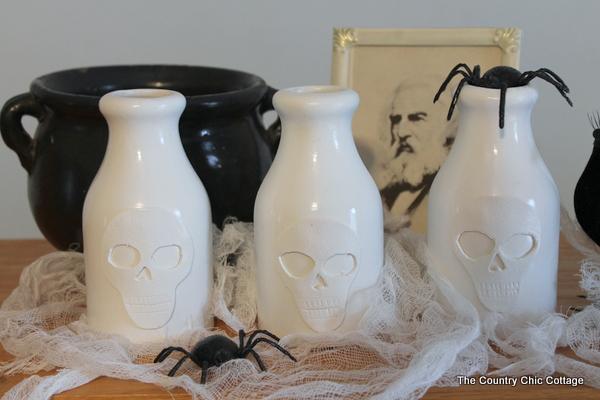 pottery barn skull vase knock off-008