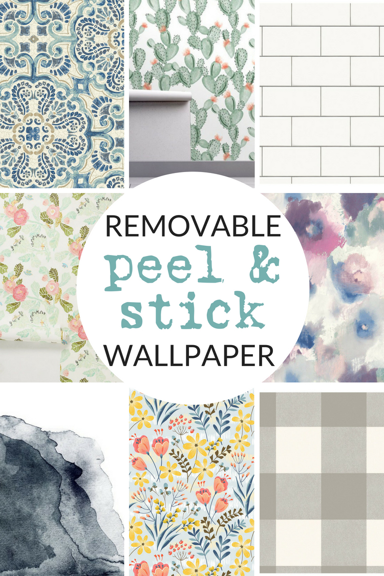 Shop my favorite sources for peel-and-stick wallpaper.