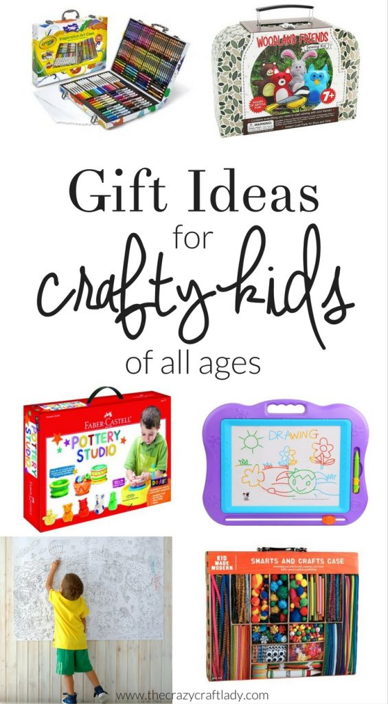 Crafty Gifts for Kids - the best gift guide filled with creative gifts and craft kits for kids of all ages, as well as ideas for crafty parents with little ones