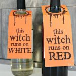 Halloween Wine Tags - a Free printable - Halloween wine labels