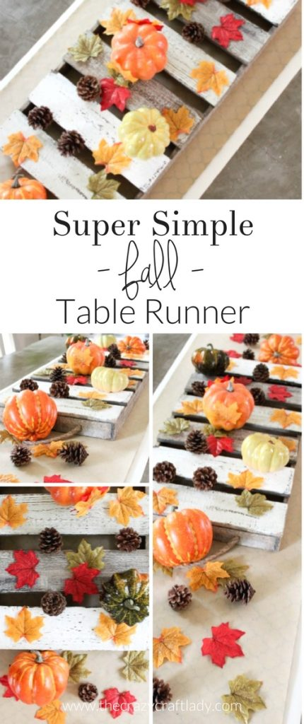 The Easiest Fall Table Runner - simple and inexpensive fall table decor that comes together in seconds