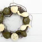 make a simple dollar store fall wreath