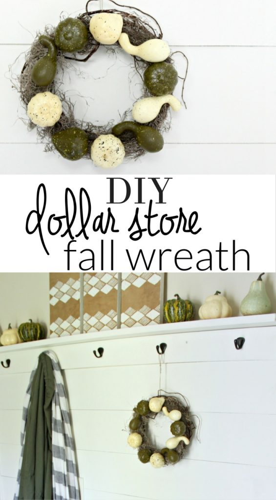 make a simple dollar store fall wreath that is perfect for your fall decor - fall crafts - dollar store crafts
