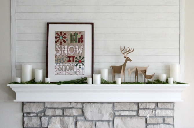 A Christmas Mantel and Dollar store Christmas Decorations