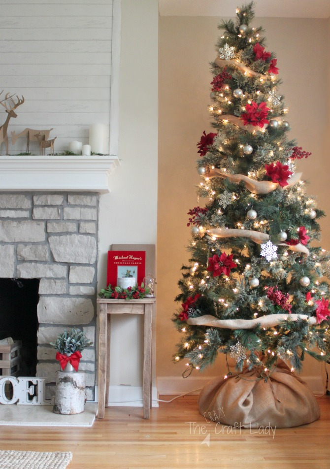 Dollar Store Christmas Decorations - how to decorate a tree for under $20