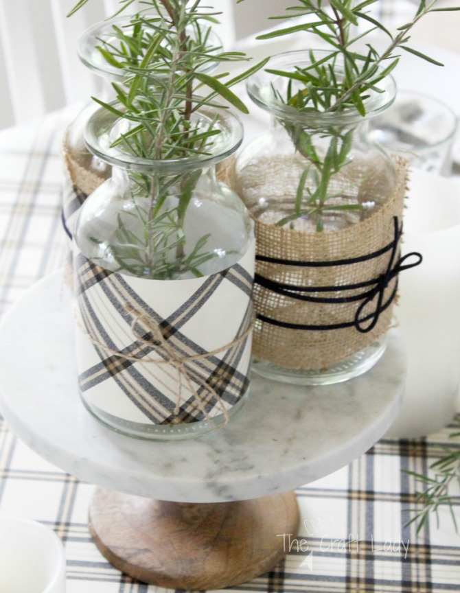 Fall Dollar Store Centerpiece for a Neutral Table Setting