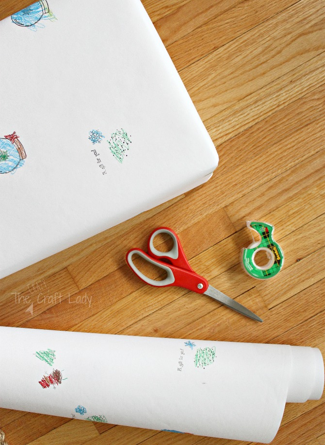 How to make custom gift wrap from your child's artwork
