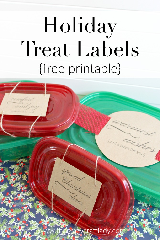 Printable Christmas Treat Labels - perfect for holiday baking and homemade gift giving