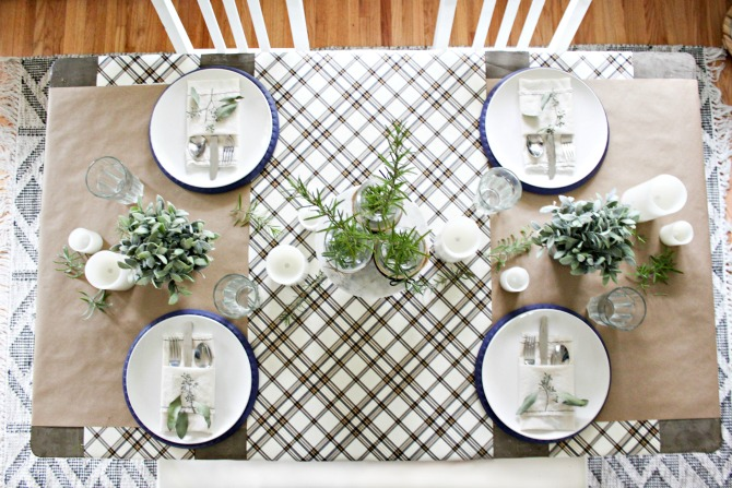 Simple and Neutral Table Setting