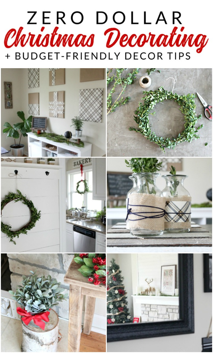 These are my top tips for inexpensive Christmas decor this year - some of which cost practically nothing! Learn how to decorate on a tiny budget this Christmas.