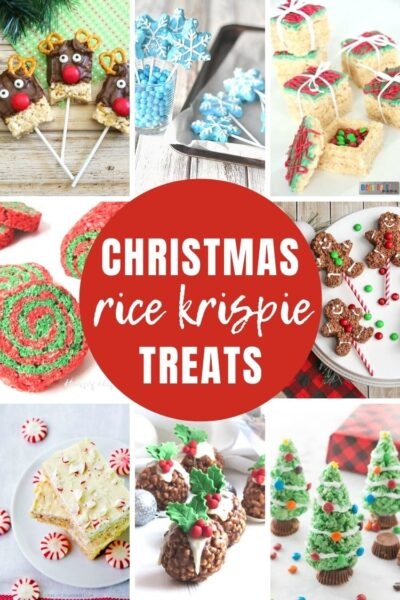 reative Christmas Rice Krispie treats - they're just like the sticky, ooey gooey treats that we all know and love, but with an extra bit of festive flair to put extra big smiles on your family's faces.