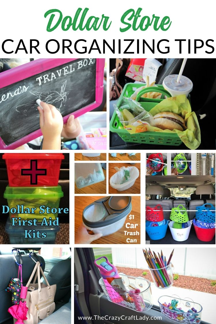 Dollar Store Car Organizing Tips - Organize your car once and for all with these dollar store organizing tips, hacks, and solutions!