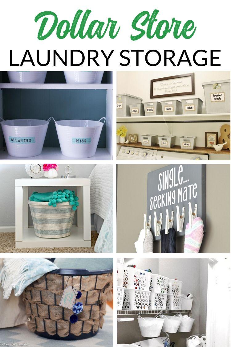 Dollar Store Laundry Room Organizing and DIY Storage Ideas