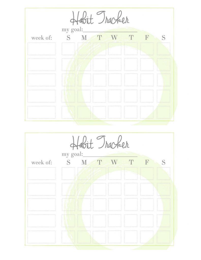 Free Printable HabitTrackers