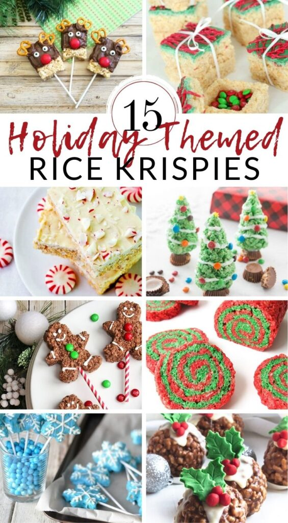 Rice Krispie treats are the perfect thing to add a seasonal touch to, because they can easily be molded or cut into pretty much any shape you like, and you can add all sorts of colors and sprinkles