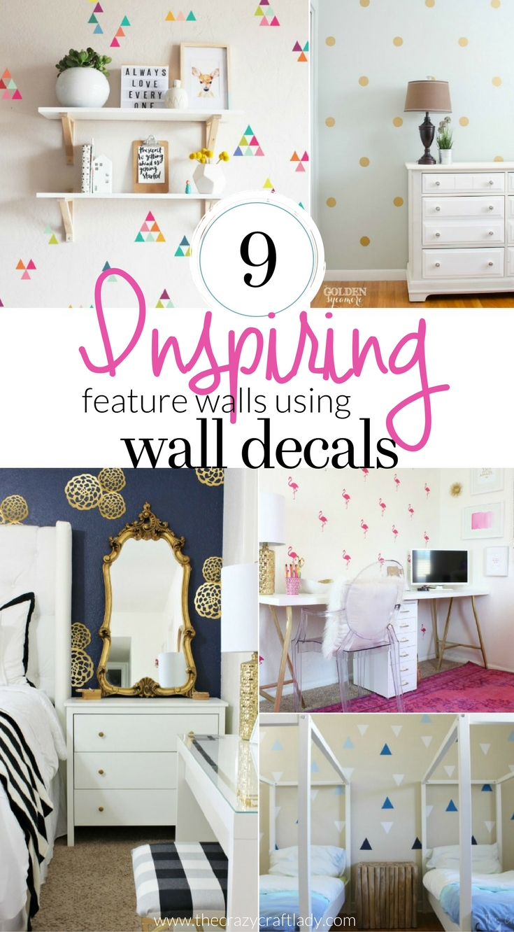 Inspiring Wall Decal Feature Walls - the perfect rental friendly solution for decorating your walls