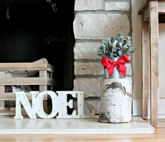 Natural birch elements for inexpensive Christmas decor