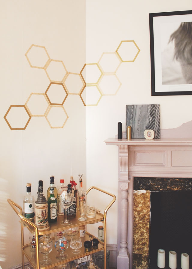 Removable Honeycomb Wall Decal