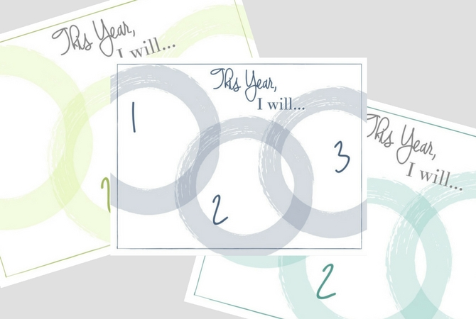 The Big Three Annual Goal Printables