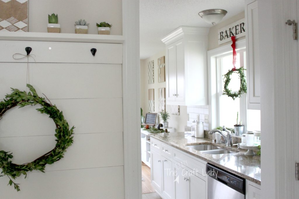 boxwood wreaths and winter decor