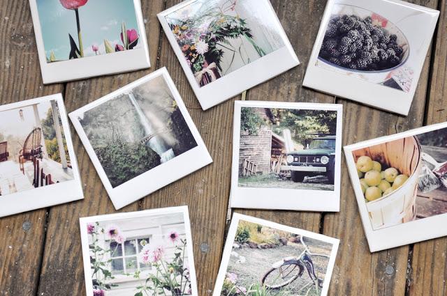 Homemade Polaroid Coasters + great DIY Photo Gift Ideas