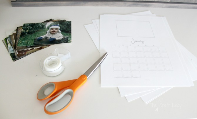 How to make a custom photo calendar - a free printable 2017 calendar